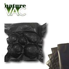 NatureVAC 15''x20'' Precut Vacuum Seal Bags All Black - 50pack
