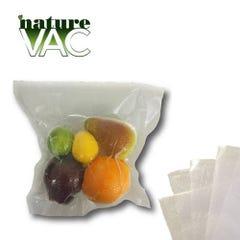 NatureVAC 15''x20'' Precut Vacuum Seal Bags All Clear - 50pack