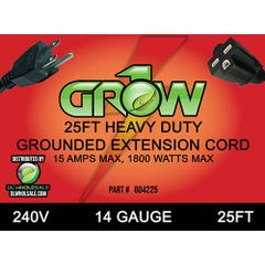 Grow1 240V Extension Cord 14 Guage 25'