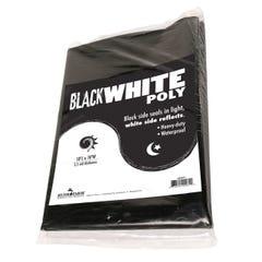 Black White Poly, 10' x 25', 5.5 mil