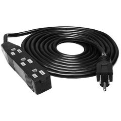 Heavy Duty 3 Outlet Power Strip / Extension Cord, 120V, 12'