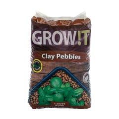 GROW!T Clay Pebbles, 4 mm-16 mm, 40 L