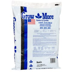 Grow More Water Soluble 20-20-20, 25 lbs