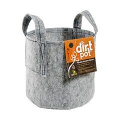 Dirt Pot Flexible Portable Planter, Grey, 7 gal, with handles