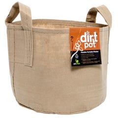 Dirt Pot Flexible Portable Planter, Tan, 5 gal, with handles