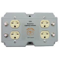 ILS4 4 Lights/Load Switcher, 240V In, 240V Out, 120V Trigger