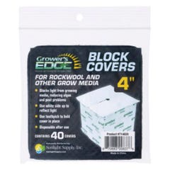 Grower's Edge Block Covers 4 in (40/Pack)