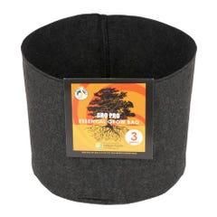 Gro Pro Essential Round Fabric Pot - Black 3 Gallon (72/Cs)