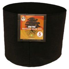 Gro Pro Essential Round Fabric Pot - Black 5 Gallon (90/Cs)