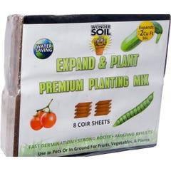 Wonder Soil Premium Coir Sheet, pack of 8