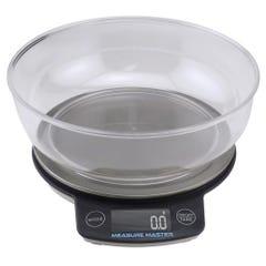 Measure Master Digital Scale w/ 1.88 L Bowl (3kg) - 3000g Capacity x 0.1g Accuracy (24/Cs)
