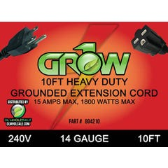 Grow1 240V Extension Cord 14 Guage 10'