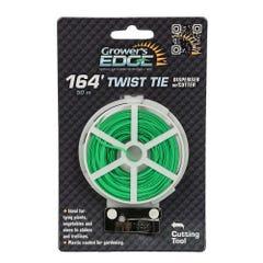 Grower's Edge Green Twist Tie Dispenser w/ Cutter - 164 ft (6/Cs)