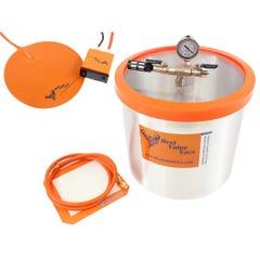 "Best Value Vacs 5 Gallon Aluminum Vacuum Chamber with 10"" Digital Heat Pad"