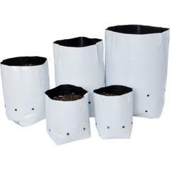 Hydrofarm Black & White Grow Bag, 1 gal (20 packs of 25)