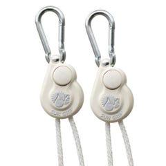 Sun Grip Push Button Light Hanger 1/8 in White -1/Pair (12/Cs)