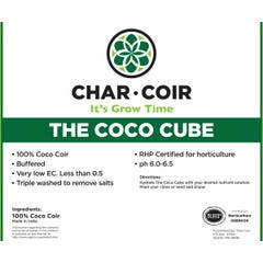Char Coir Coco Cube RHP Certified Coco Coir, 2.25 L, case of 32