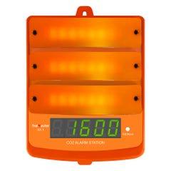 TrolMaster CO2 Alarm Station Amber Light for Carbon-X System