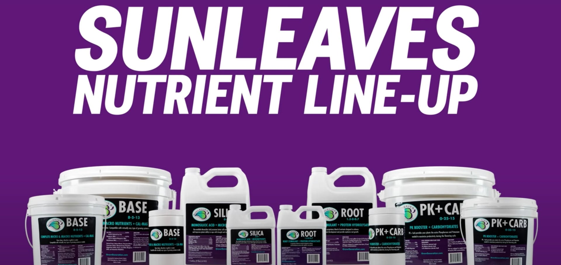 SunLeaves Nutrient Line-Up